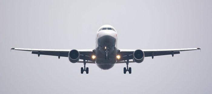 Avion de calatori in timpul zborului