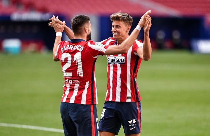 Atletico Madrid bucurie victorie doi jucatori
