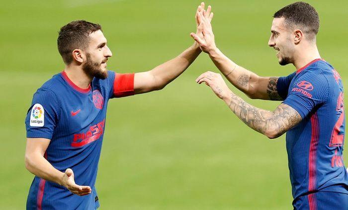 Atletico Madrid jucatori batand palma