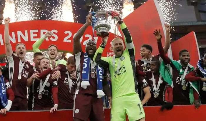 Leicester City sarbatoreste castigarea Cupei Angliei